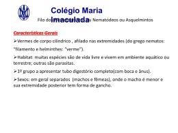 Filo dos nematelmintos - Colégio Maria Imaculada