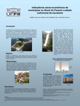 Indicadores sócio-econômicos de municípios no litoral do Paraná e