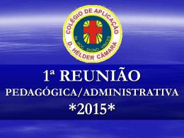 1ª reunião 2015