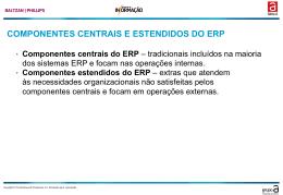 COMPONENTES CENTRAIS E ESTENDIDOS DO ERP