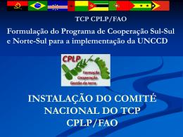 Apresentação do TCP para os Comités Nacionais