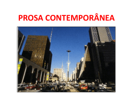 PROSA CONTEMPORÂNEA