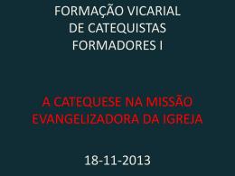 formação vicarial de catequistas formadores i