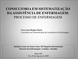 consultoria em sistematização da assistência de enfermagem