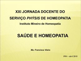 SAÚDE E HOMEOPATIA 10 e 11 - Serviço Phýsis de Homeopatia