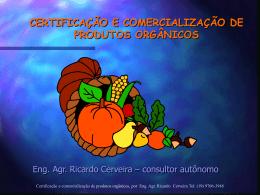 certificação e comercialização de produtos orgânicos