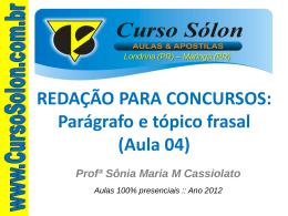 Aula 04 - Curso Sólon Concursos