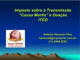 Direito Tributário ITCD (Antonio Herance Filho)