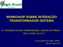 workshop sobre interação transformador-sistema