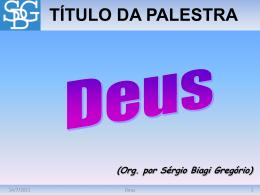 Deus - Sérgio Biagi Gregorio