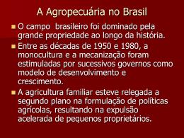 A Agropecuária no Brasil
