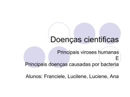 Doenças cientificas - escola Marechal Rondon