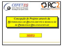 Concepções de Projetos através da MDPO