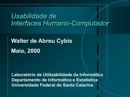 Usabilidade de Interfaces Humano