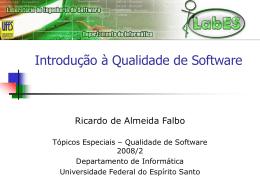 Qualidade de Software - Informática