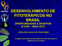 DESENVOLVIMENTO DE FITOTERÁPICOS NO BRASIL
