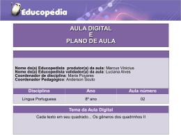 Atividade 2 de L. Portuguesa do 8° ano