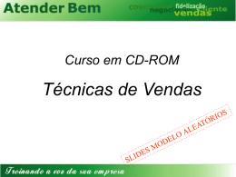Curso em CD-ROM Técnicas de Vendas