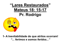 LARES RESTAURADOS (Em Power Point)