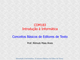 Aula5(cont) - Sistemas de Informação UFLA 2007