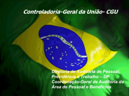 CGU - Tribunal de Contas do Distrito Federal