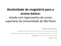 Atratividade do magistério para o ensino básico: estudo - IME-USP