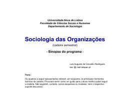 O que é a Sociologia das Organizações