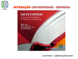 Interação Universidade – Empresa, Luiz Pontes.