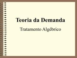 Tratamento Algébrico