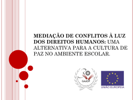 mediação de conflitos à luz dos direitos humanos