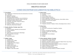 como encontrar documentos na biblioteca