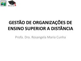gestão de organizações de ensino superior a distância