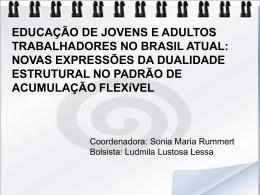 Educação de Jovens e Adultos Trabalhadores no Brasil Atual