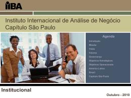 IIBA overview - IIBA Capítulo São Paulo