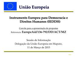Apresentação sessão de informação IEDDH 11/03/2015