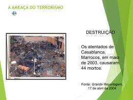 Apresentação: A ameaça do terrorismo
