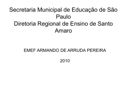 Slide 1 - Secretaria Municipal de Educação