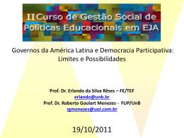 Governos da América Latina e Democracia participativa