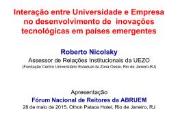 Interação entre Universidade e Empresa no
