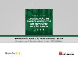 Secretaria do Verde e do Meio Ambiente - Sinduscon-SP