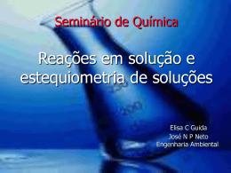 → Propriedades dos solutos em meio aquoso