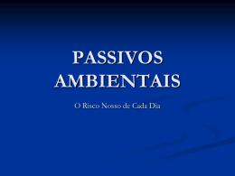 PASSIVOS AMBIENTAIS