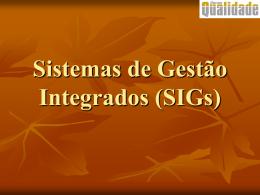 Sistemas de Gestão Integrada