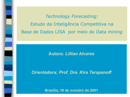Data Mining na Base Lisa - Prof. Alberto J. Alvares