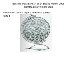Oficina: análise de questão do SARESP