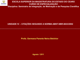 V – Citações - Governo do Estado do Ceará