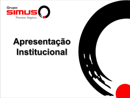 Apresentação Software Simus Superus