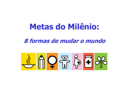 Objetivos do Milênio: