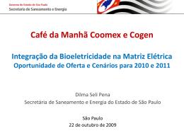 Café da manhã Coomex e Cogen