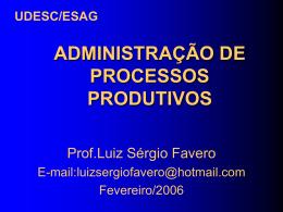 Administração de Processos Produtivos